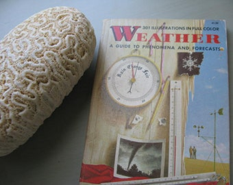 Charming Mid Century Weather Book, A Guide to Phenomena and Forecast Lovely Matte Colors 301 Color Illustrations  Exc ConditionScience Guide