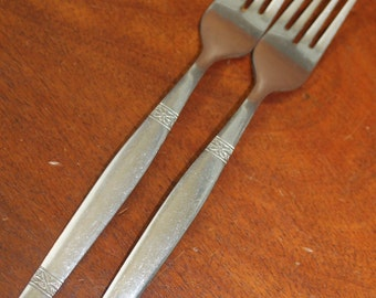 Vintage Silverware in mid century style stainless flatware Bin 58