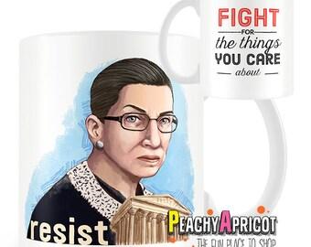 Notorious RBG - Resistance Mug - Ruth Bader Ginsburg Mug - Supreme - Resist - Gay Pride - LGBTQ Mug - Supreme Mug - RBG - Mugs - Pop Culture