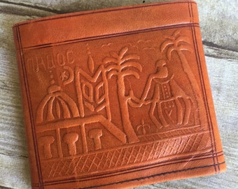 Vintage Leather Wallet - Tooled -