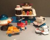 Vintage 1984 Playworld Toys 06 L'l Playmates Space Station Play Set no. 8000