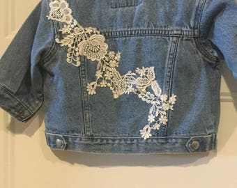 Vintage Denim Jacket with Vintage trim