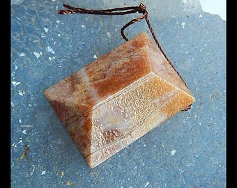 Sun Stone Faceted Pendant Bead,26x19x11mm,9.1g(c0517)