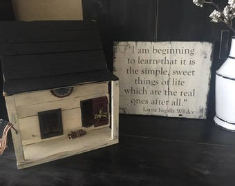 I am beginning to learn Farmhouse sign quote by Laura Ingalls Wilder