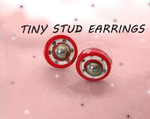 Tiny Studs - One of a Kind UNIQUE Stud Earrings - OOAK Unisex Studs - Womens or Mens Stud Earrings - Small Stud Earrings Made with Vintage