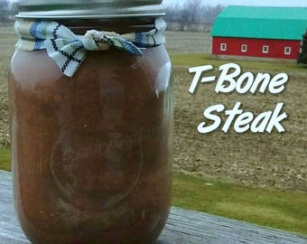 T-Bone Steak Soy Candle in 16 oz Jar