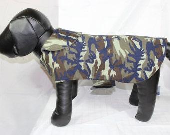 Small Fleece and Cotton Camo Pet Coat