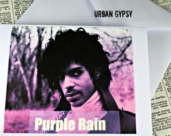 Purple Rain Blank Note Note Card Prince Greetings Card Stationary Set Note Card Set Handnmade Paper Card