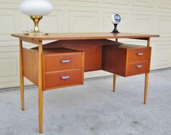Danish Teak Desk - Tibergaard Teak Desk