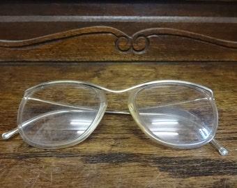 Vintage French Prescription Reading Glasses Spectacles Specs circa 1960-70's / English Shop