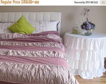 Clearance sale shabby chic bedding red green pink roses floral - Shabby chic bedroom sets for sale ...