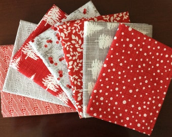 Winterberry Fat Quarter Bundle of 7 by Kate Birdie Paper Co for Moda