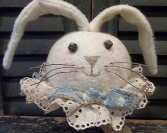 Sweet Primitive Handmade Bunny Make-Do on Rusty Bed Spring - Spring/Easter Decoration
