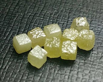 Parcel of 3 Light Yellow 3.3mm cube diamonds 1.19ct approx Conflict Free