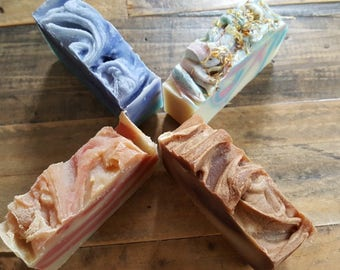 4 Bars Olive Oil Cold Process Soap choose your scent