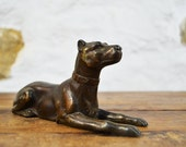 French Spelter Dog Bronzed figurine Great Dane Canine Chien  statue