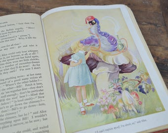 Alice in Wonderland Illustrated by Rene Cloke 1940's collectible book