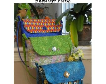 Pattern - Digital - Shoulder Bag  Magnetic Snap Closure -  medium size -  Emma  Style