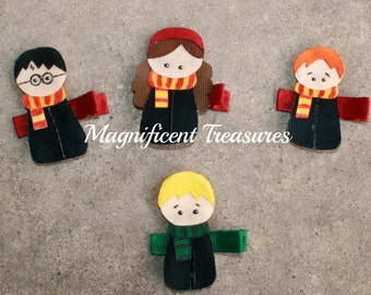 Harry Potter Character Inspired Ribbon Sculpture Hair Clip