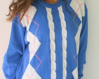 Vintage CHRISTIAN DIOR Mens Sweater..size large.designer. mens clothing. retro. sporty. preppy. classic. old man. nwt. college. frat. greek.