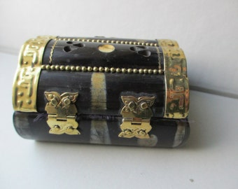 Vintage Velvet Lined Gift Box Treasure box