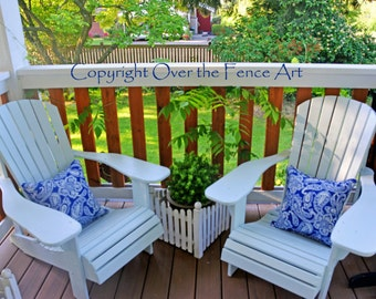 Front Porch Adirondack Chairs Photo Greeting Card