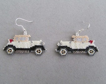 Beaded Nostalgia Car Earrings