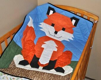 Baby Fox Quilt Pattern - PDF