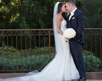 "Long wedding veils cathedral veil, 80"", 90"" 108"" 120"" veils"