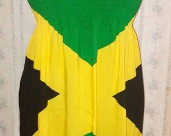 Jamaican flag dress