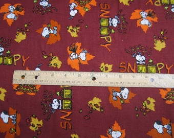Peanuts Snoopy Thanksgiving Autumn cotton fabric from Springs Creative