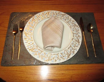 Special listing for Meghan and Phil. Wedding bridal registry. Slate place mats # PLM-8