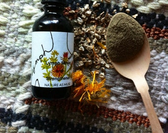Lymph Flow Massage Oil- Calendula, Burdock, Cleavers