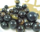 Destash Tigereye Mixed Size Beads, 28 Pieces