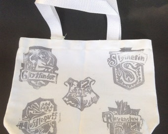 Hand Stamped Harry Potter Tote Bag