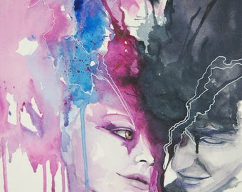 Original Artwork Watercolour - Forbidden Love
