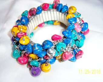 Bright Colors and Full Fun Stones Cha-Cha Bracelet