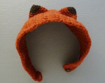 Crochet Headband Pattern Fox PDF - head wrap animal ears Fox - baby/kids/woman/man 5 sizes easy, beginner accessory - Instant Download