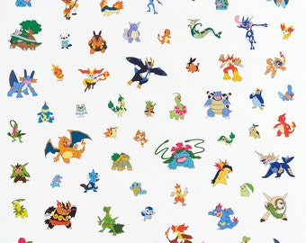 Robert Kaufman. Pokemon. Characters Multi - By the Yard - Choose your cut