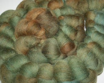 Hand Dyed CAMO Spinners Delight!! Combed Top Wool Roving