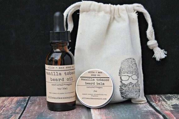 vanilla tobacco beard grooming kit beard oil beard balm. Black Bedroom Furniture Sets. Home Design Ideas