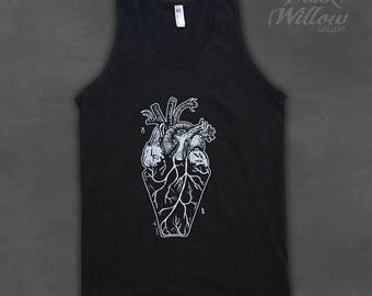 Coffin Heart Unisex Tank Top by Lupe Flores