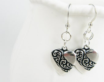 Heart Earrings for Romance Author - Romantic Gift for Sweetheart, Girlfriend, Wife - Love Jewelry