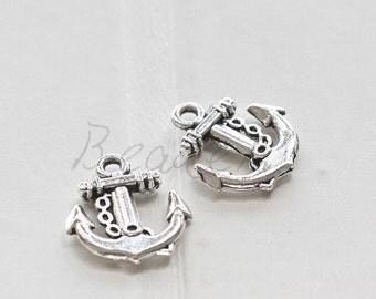 20pcs / Anchor / Oxidized Silver / Base Metal / Charm 18*15mm (X92//A24)
