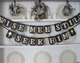Wise Men Still Seek Him Banner, Christmas Sign, Christian Christmas, Wise Men, Nativity, Christmas Decoration