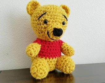 Little Winnie the pooh, crochet Winnie the pooh inspired doll.