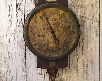Vintage Chatillion Hanging Brass Scale - Vintage Farmhouse Milk Scale