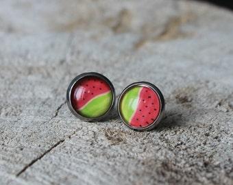 Petites merveilles melon // earrings // fait au quebec   (BO-1227)