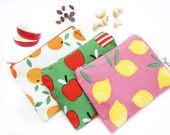 Set of 6 snack bags