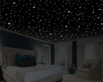 Romantic bedroom decor (486 pcs.) Glow in the Dark Stars, Romantic Gifts, Romantic Wall Decal, Glow Stars, Ceiling Stars, glowing stars